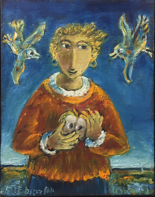 , 'Girl and two birds,' 2015, Dan Gallery