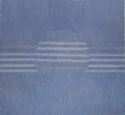 Fabián Burgos, 'Giro de 180° y azul sobre Michael Noll', 2014, Museo de Arte Contemporáneo de Buenos Aires