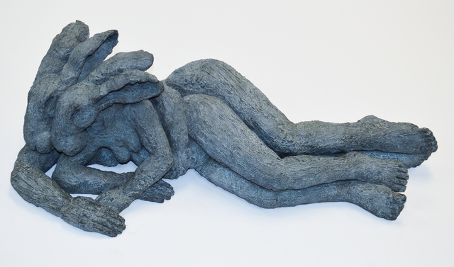, 'Reclining Lady Hares (Mother and Child) ,' 2003, Waterhouse & Dodd