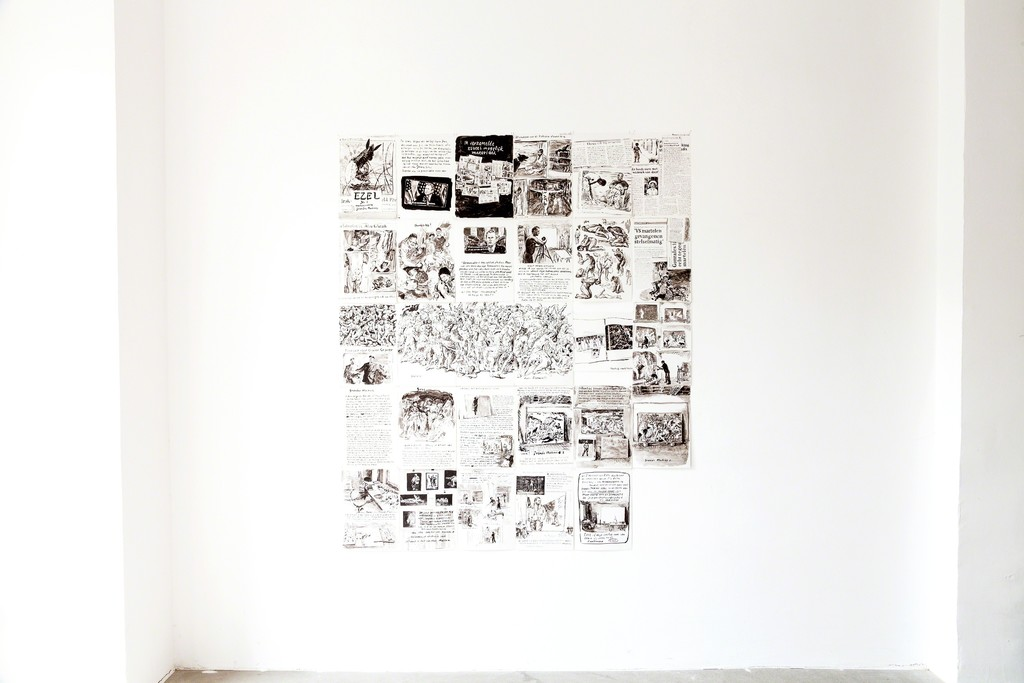 "exhibition view: original drawings ""Ezel #3"" 