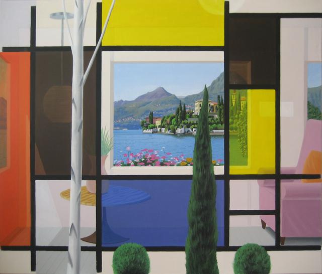 Bob Knox, 'Mondrian's Glass House', 2019, Painting, Acrylic on canvas, William Havu Gallery