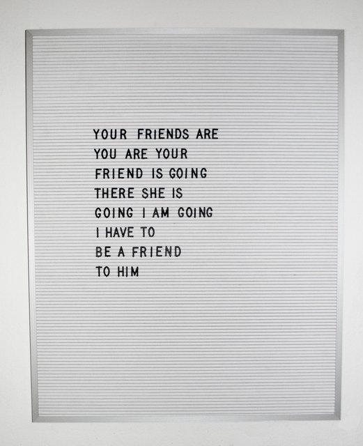 , 'Friend,' 2016, Myla Dalbesio