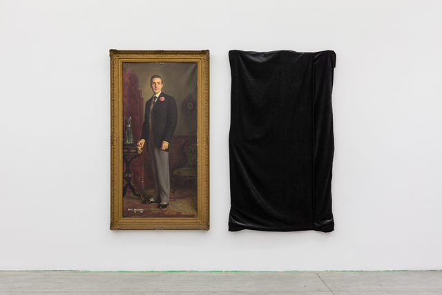 ", '""Portrait of Hurd Hatfield as Dorian Gray"" and ""The Evil Twin"",' 1945 and 2016, Swiss Institute"