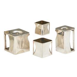 "Four-Piece ""The Cube"" Tea Set, England"