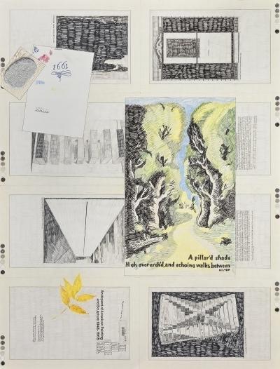 Derek Sullivan, '#146, The Art of the Real ex-library, poster, paper, postcard, leaf', 2019, Galerie Antoine Ertaskiran