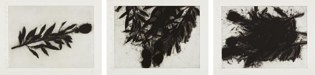 Donald Sultan, 'Black Roses (October); Black Roses (November); and Black Roses (December)', 1989, Phillips