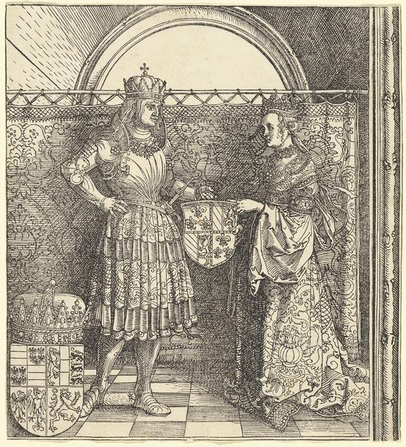 Albrecht Dürer, 'The Betrothal of Maximilian with Mary of Burgundy', 1511, National Gallery of Art, Washington, D.C.