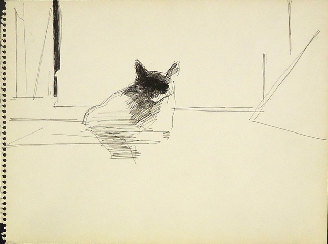 , 'Cat Study,' ca. 1962, Cerulean Arts