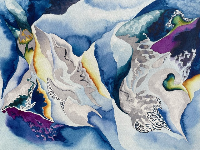 Mary Shah, 'The Depths', 2021, Painting, Watercolor on paper, Rick Wester Fine Art