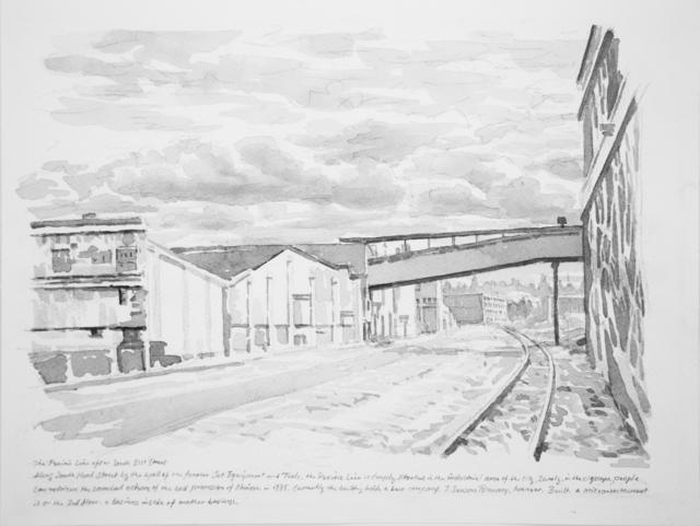, 'The Prairie Line After South 25th Street,' 2017, Koplin Del Rio