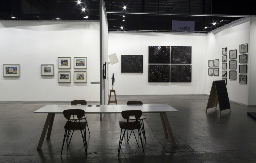 Booth view. Cabinet Antonio Berni and Gallery Booth with pieces of Eduardo Costa, Gustavo Marrone and Ignacio Iasparra.