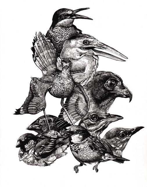 , 'Endangered Birds,' 2015, Jenn Singer Gallery
