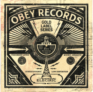 Shepard Fairey, 'Obey Records HPM', 2013, Galerie Matthew Namour