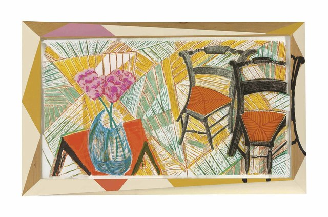 David Hockney, 'Walking past two Chairs, from: The Moving Focus Series', 1984-6, Christie's