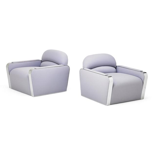Brueton, 'Pair Of Club Chairs, USA', 1990s, Rago/Wright