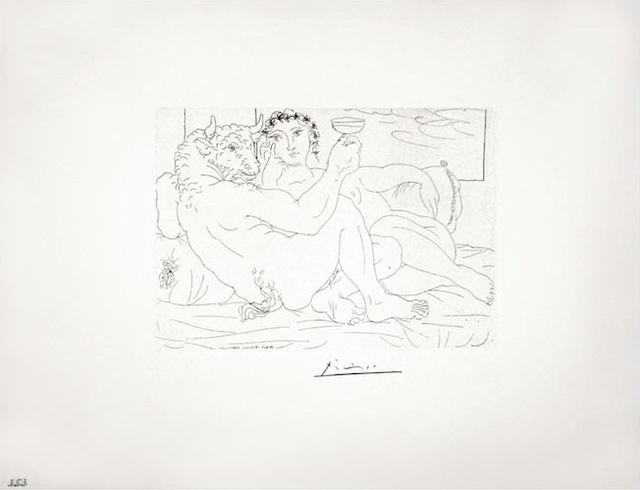 , 'Le Repos du Minotaure : Champagne et Amante (S.V. 83),' 1933, John Szoke