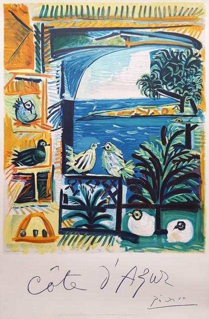 Pablo Picasso, 'Cote D'Azur', 1962, Print, Lithograph, Exhibition Poster, Graves International Art
