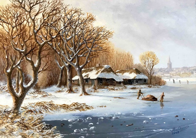 , 'Oak forest in winter landscape ,' , ArtBoutique