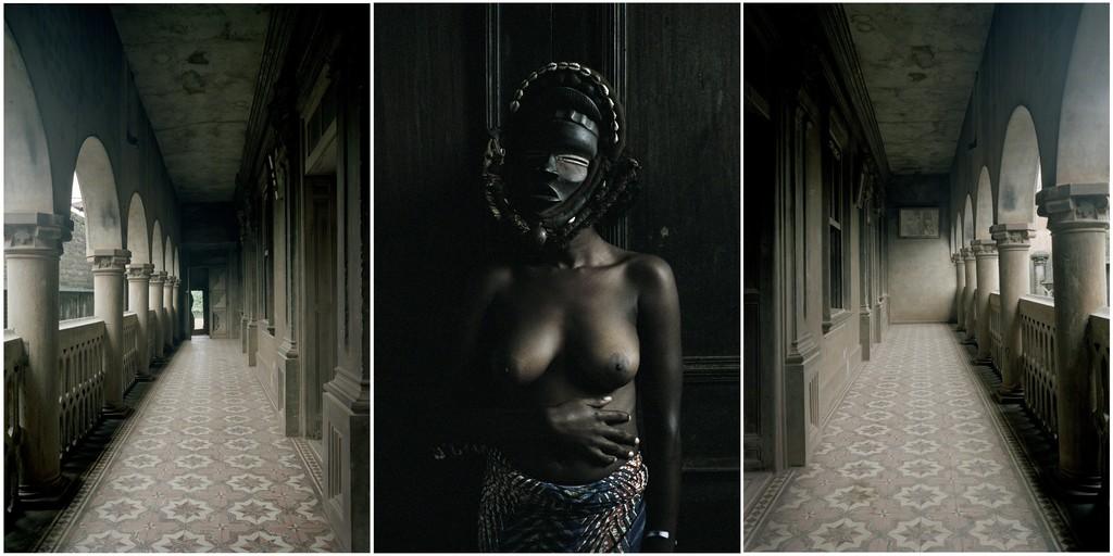 Untitled Triptych (from the series Demoiselles de Porto-Novo)