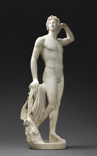Antonio Canova, 'Apollo Crowning Himself', 1781-1782, Marble, J. Paul Getty Museum