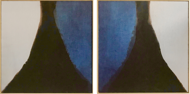 Carrie Crawford, 'Mirror Pond', 2019, Painting, Indigo, logwood, oak gall, acorn, iron, and black walnut dye on linen, Uprise Art