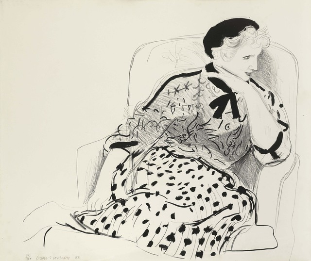 David Hockney, 'Celia in an Armchair', 1980, Print, Lithograph, Tanya Baxter Contemporary