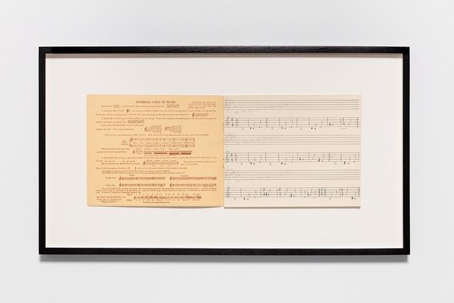 , 'Symbols used in music,' 2015, Esther Schipper