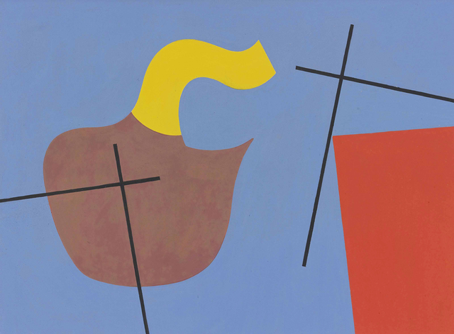 , 'Forme organique, plan et croix (Organic form, plan and cross),' 1932, Faessler & Ochsner