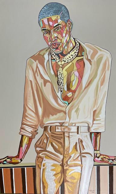 REWA, 'Kaitochukwu Waits', 2020, Painting, Acrylic and ink on canvas, Band of Vices