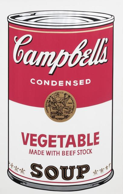 Andy Warhol, 'Campbell's Soup I:Vegetable', 1968, Print, Screenprint on paper, Hindman