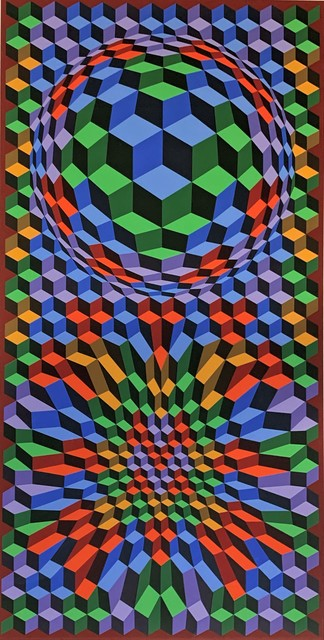 Victor Vasarely, 'Untitled (in blues, greens, reds, yellows, and browns)', ca. 1970, Washington Color