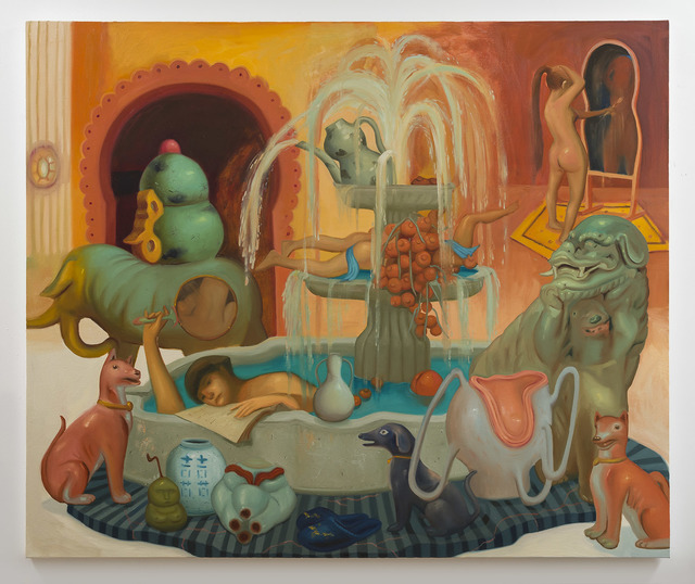 Dominique Fung, 'Access to a Warm Space for Bathing', 2017, Painting, Oil on canvas, Ross+Kramer Gallery