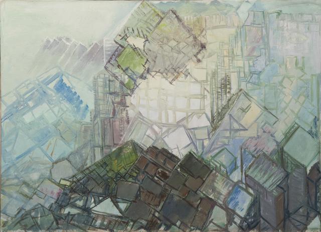 , 'Cubic landscape,' ca. 1930, Gallerí Fold