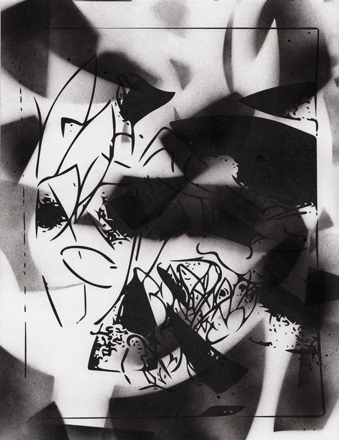 , 'Vector drawing with spray paint 5/12,' 2015, Galerie Andreas Huber