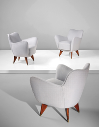 "Guglielmo Veronesi, 'Three ""Perla"" armchairs,' ca. 1952, Phillips: Design"