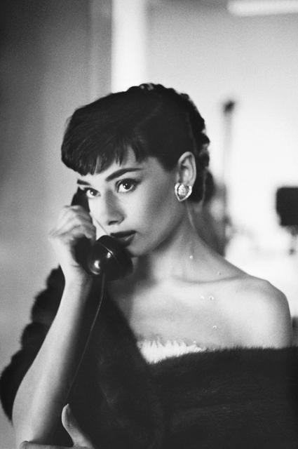 Bob Willoughby, 'Audrey Hepburn, on Telephone, Paramount Studios', 1953, ElliottHalls