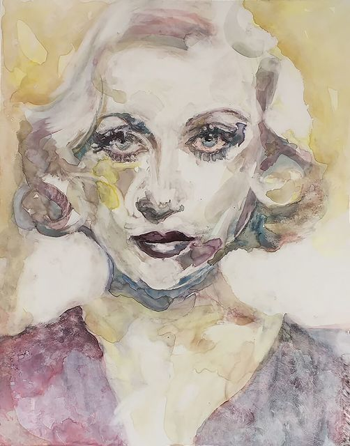 ", '""I resent being tagged 'glamour girl.' It's such an absurd, extravagant title. It implies so much that I am not."" -- Carole Lombard,' 2017, Ro2 Art"