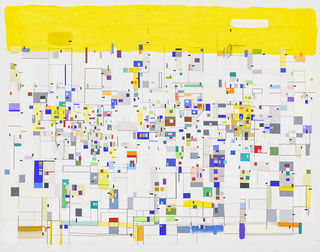 Bart Stolle, 'Self-organizing with yellow', 2017, Zeno X Gallery
