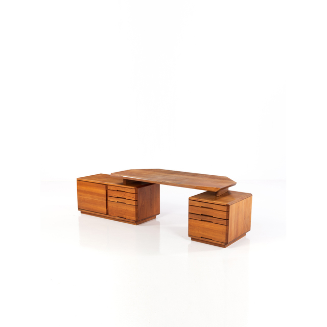 Pierre Chapo, 'Model B40; Large Desk with double file drawer', circa 1980, PIASA