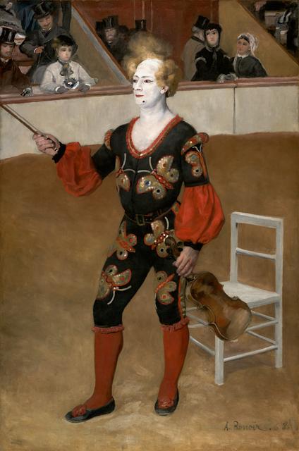 Pierre-Auguste Renoir, 'The clown', 1868, Kröller-Müller Museum
