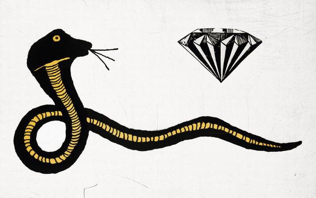 Donald Baechler, 'Diamond Snake by Donald Baechler', 2007, Print, Photogravure on 300gsm Somerset paper, Lot 180