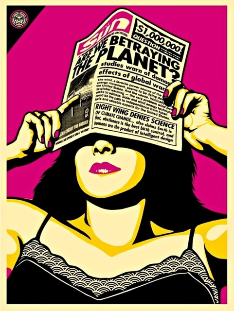 Shepard Fairey, 'Global Warning (Andy Warhol Edition)', 2009, Alpha 137 Gallery Gallery Auction