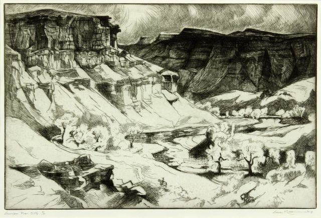 Gene Kloss, 'Gunnison River Cliffs', 1967, Addison Rowe Gallery