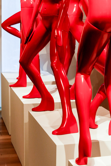 , 'Eight mannequins (from MOTION²--RED),' 2014, Museum of Arts and Design