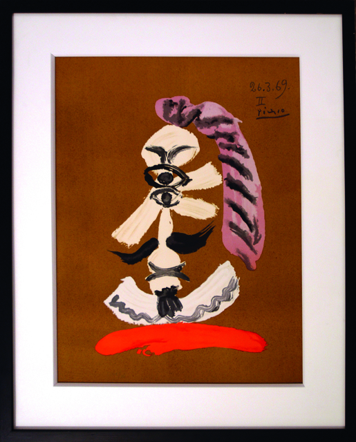 Pablo Picasso, 'Les portraits imaginaires 26.3.69 II', 1971, Print, Lithograph signed in the plate during the Picasso's Lifetime, Numbered limited F / 250, Bogena Galerie