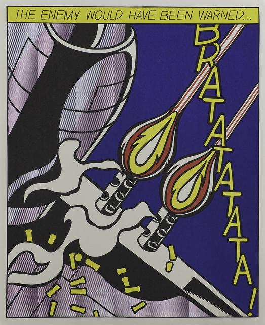 Roy Lichtenstein, 'As I Opened Fire triptych', 2000, Rago