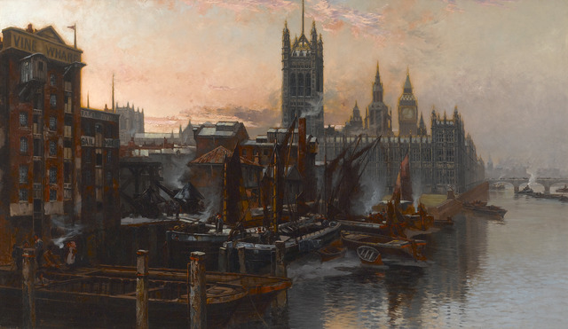 , 'A View of the Houses of Parliament from the Thames, London,' ca. 1880, M.S. Rau Antiques