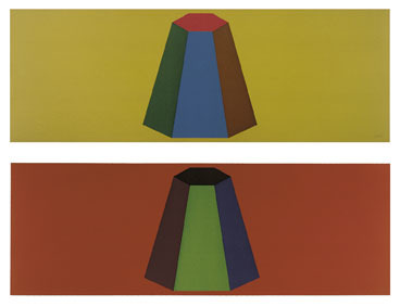 Sol LeWitt, 'Flat Top Pyramid with Colors Superimposed', 1988, Schellmann Art