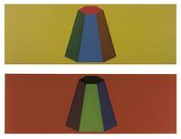 Sol LeWitt, Flat Top Pyramid with Colors Superimposed