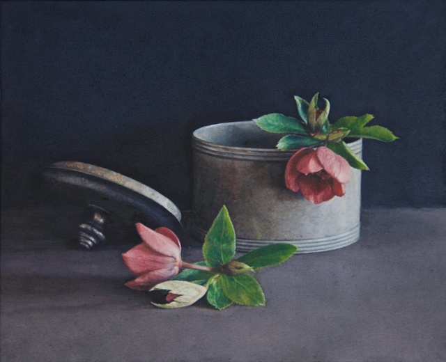 Lucy Mackenzie, 'Pewter Pot and Flowers', 2009, Nancy Hoffman Gallery